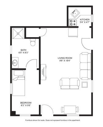 Studio 1 Bathroom Apartment for rent at Lewis Lodge in Madison, WI