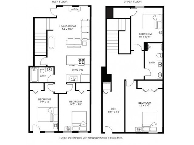 4 Bedrooms 2 Bathrooms Apartment for rent at Laurel Commons in Madison, WI