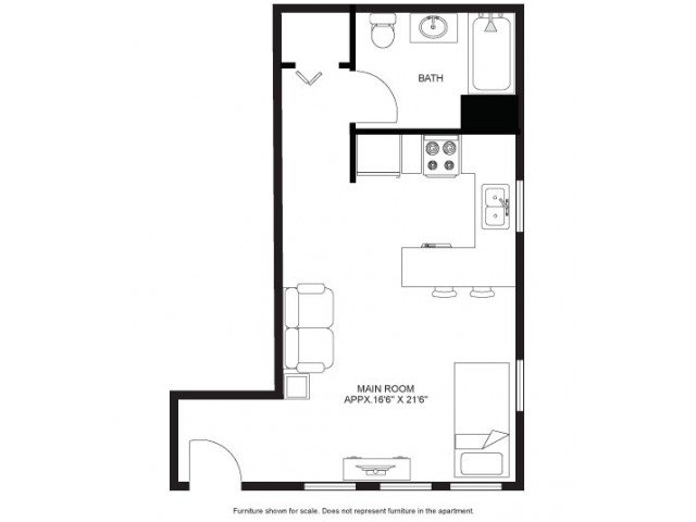 Studio 1 Bathroom Apartment for rent at Laurel Commons in Madison, WI