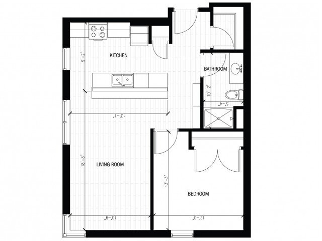 1 Bedroom 1 Bathroom Apartment for rent at The Regent in Madison, WI