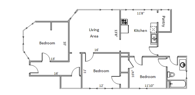 3 Bedrooms 1 Bathroom Apartment for rent at 21 N Hancock St in Madison, WI