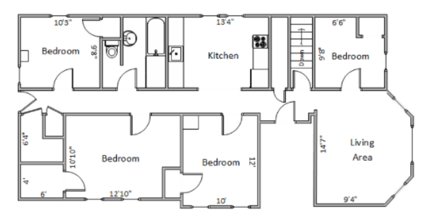 4 Bedrooms 1 Bathroom Apartment for rent at 544-546 State St. in Madison, WI