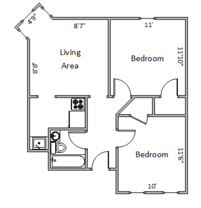 2 Bedrooms 1 Bathroom Apartment for rent at 544-546 State St. in Madison, WI
