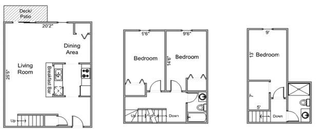 3 Bedrooms 2 Bathrooms Apartment for rent at Four Seasons in Madison, WI