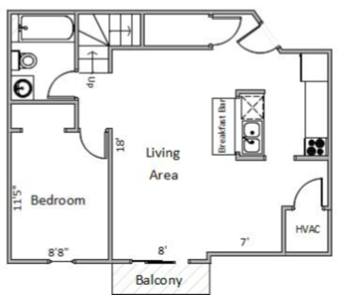 5 Bedrooms 2 Bathrooms Apartment for rent at Four Seasons in Madison, WI