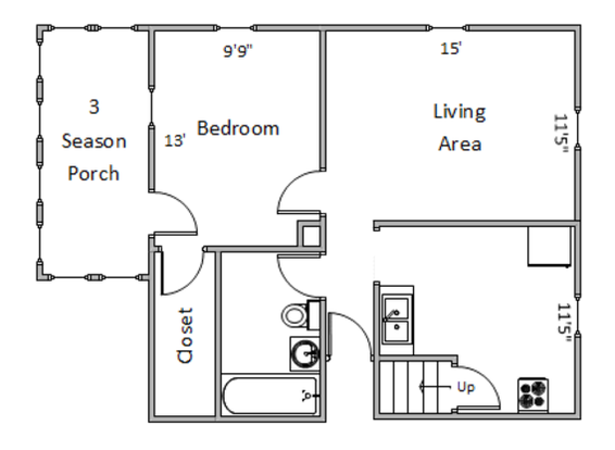 2 Bedrooms 1 Bathroom Apartment for rent at 2525 E Dayton St. in Madison, W