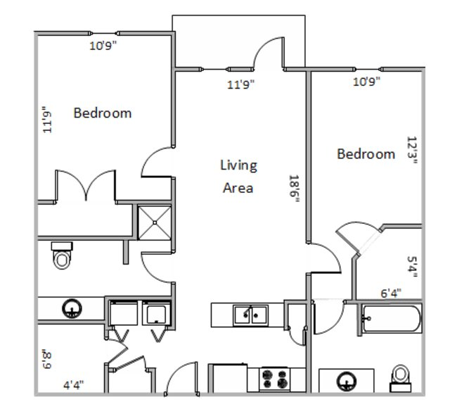2 Bedrooms 2 Bathrooms Apartment for rent at Fairhaven Court in Madison, WI