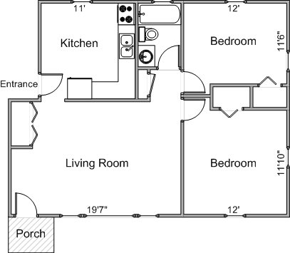 2 Bedrooms 1 Bathroom Apartment for rent at 2328 Syene Rd in Fitchburg, WI