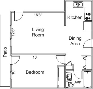 1 Bedroom 1 Bathroom Apartment for rent at 506-518 Shepard Terrace in Madison, WI