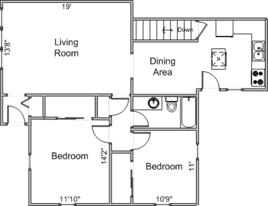 2 Bedrooms 1 Bathroom Apartment for rent at 5115 Manitowoc Parkway in Madison, WI