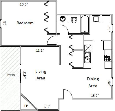 1 Bedroom 1 Bathroom Apartment for rent at 5945 Seminole Ct in Fitchburg, WI