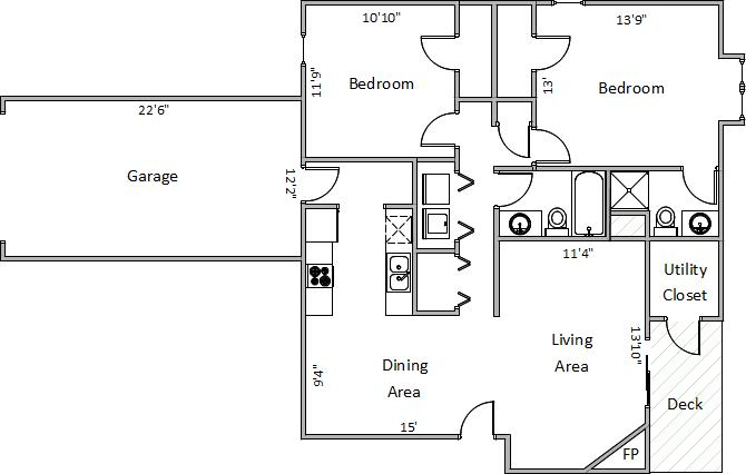 2 Bedrooms 2 Bathrooms Apartment for rent at 5945 Seminole Ct in Fitchburg, WI