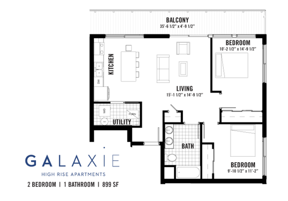 2 Bedrooms 1 Bathroom Apartment for rent at Galaxie Townhomes And Lofts in Madison, WI