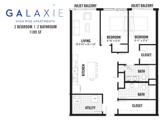 2 Bedrooms 2 Bathrooms Apartment for rent at Galaxie Townhomes And Lofts in Madison, WI
