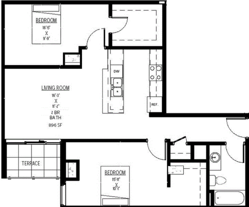 2 Bedrooms 1 Bathroom Apartment for rent at The Constellation in Madison, WI