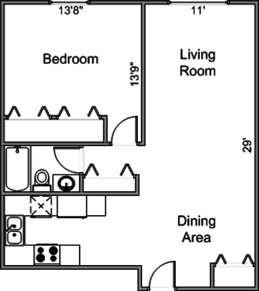 1 Bedroom 1 Bathroom Apartment for rent at 506-508 Farley Ave in Madison, WI