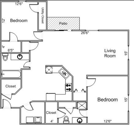 2 Bedrooms 2 Bathrooms Apartment for rent at 5831 Lupine Ln in Madison, WI