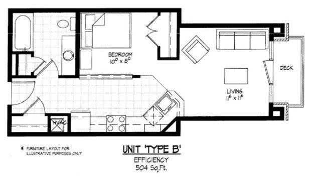 Studio 1 Bathroom Apartment for rent at Equinox Apartments in Madison, WI