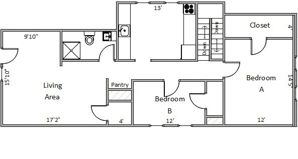 2 Bedrooms 1 Bathroom Apartment for rent at 544 State St in Madison, WI