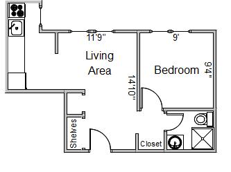 1 Bedroom 1 Bathroom Apartment for rent at 250 Langdon St in Madison, WI