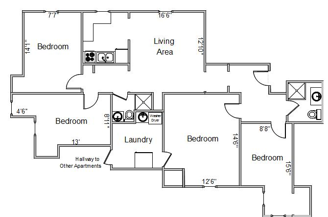 4 Bedrooms 2 Bathrooms Apartment for rent at 250 Langdon St in Madison, WI