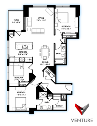 3 Bedrooms 2 Bathrooms Apartment for rent at Venture in Madison, WI