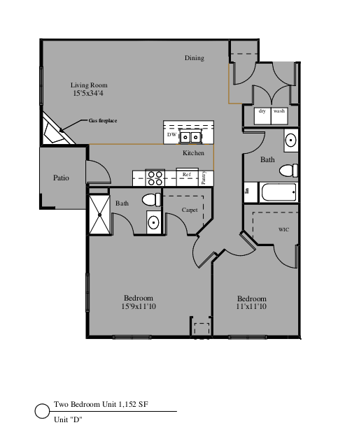 2 Bedrooms 2 Bathrooms Apartment for rent at North Towne Apartments in Windsor, WI
