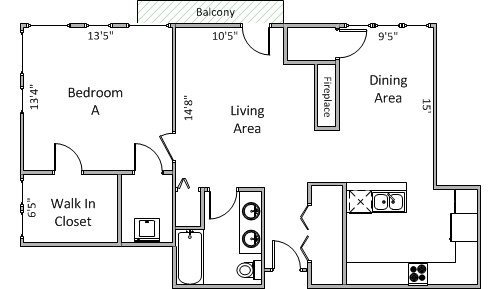 1 Bedroom 1 Bathroom Apartment for rent at 309 W Washington Ave in Madison, WI