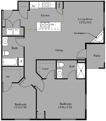 2 Bedrooms 2 Bathrooms Apartment for rent at 4320 North Towne Ct in Windsor, WI