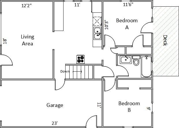 2 Bedrooms 1 Bathroom House for rent at 354 Russell St in Madison, WI
