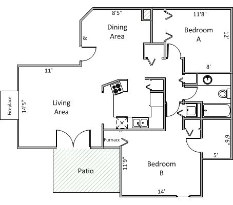 2 Bedrooms 1 Bathroom Apartment for rent at 340 N Allen St in Madison, WI