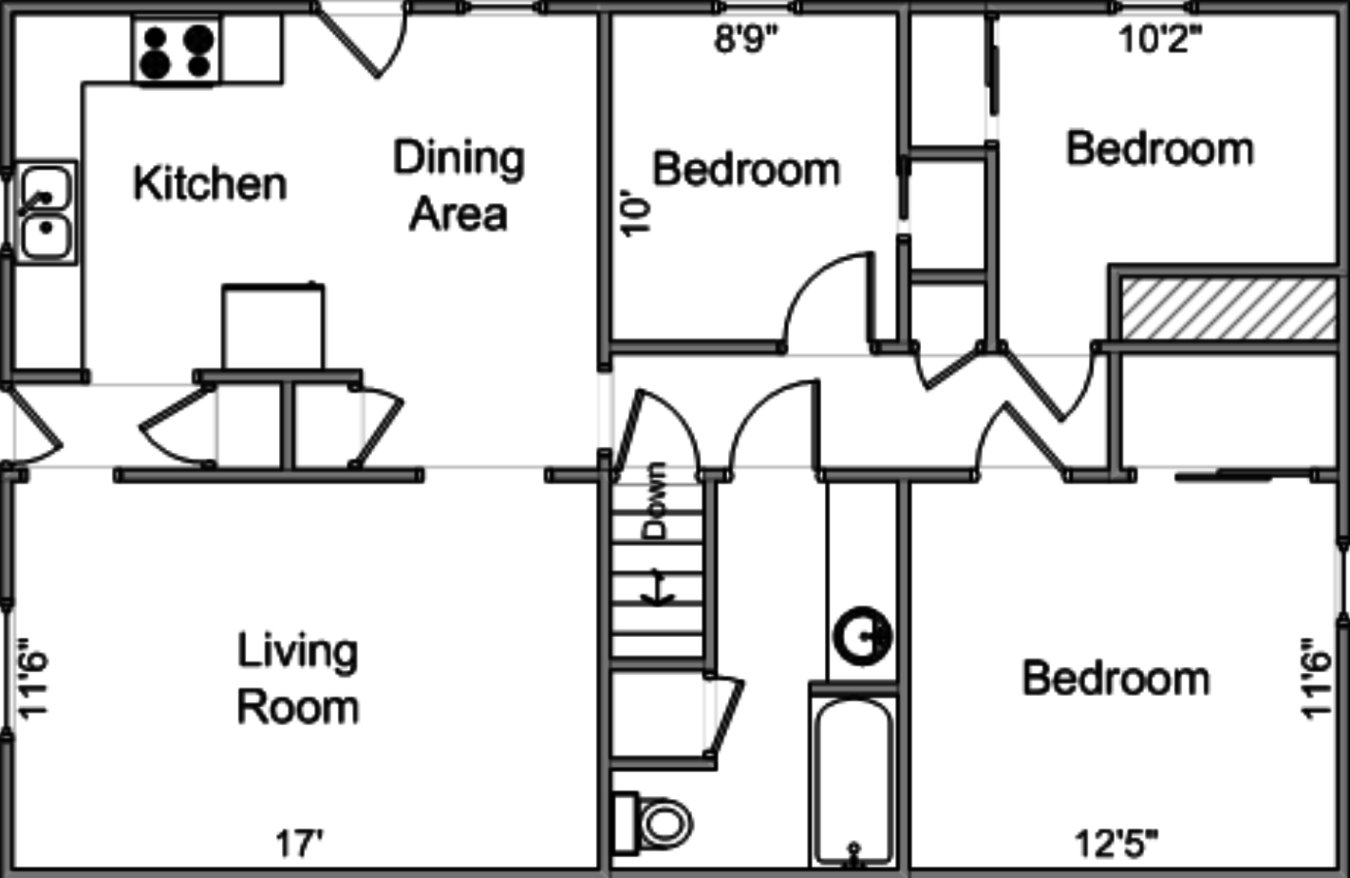 3 Bedrooms 1 Bathroom Apartment for rent at 1439 Loreen Dr in Madison, WI
