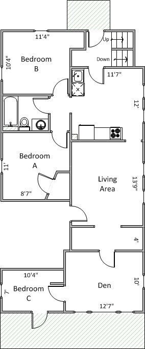 3 Bedrooms 1 Bathroom Apartment for rent at 1233 Mound St in Madison, WI