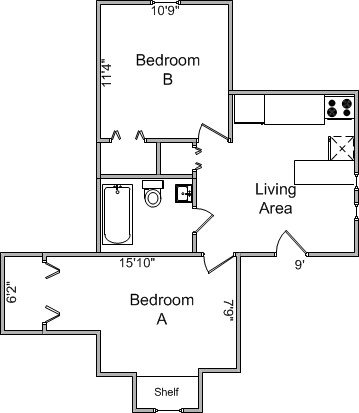 2 Bedrooms 1 Bathroom Apartment for rent at 21 E Gorham St in Madison, WI