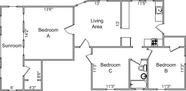 3 Bedrooms 1 Bathroom House for rent at 1818 Madison St in Madison, WI