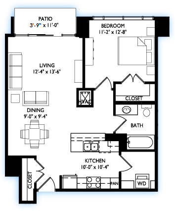 1 Bedroom 1 Bathroom Apartment for rent at Venture in Madison, WI