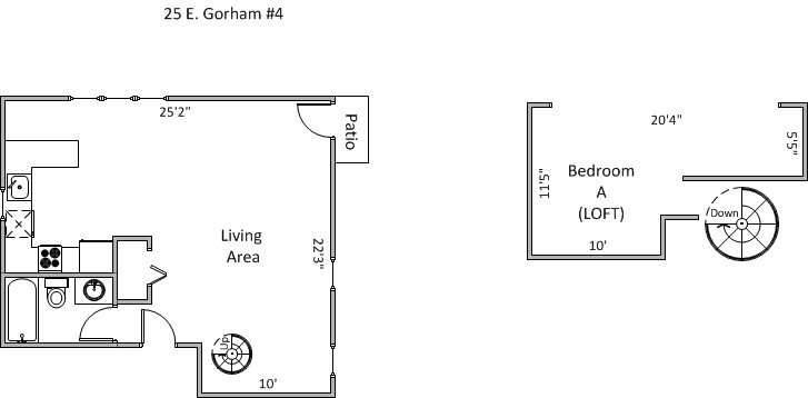 1 Bedroom 1 Bathroom Apartment for rent at 25 E Gorham St in Madison, WI