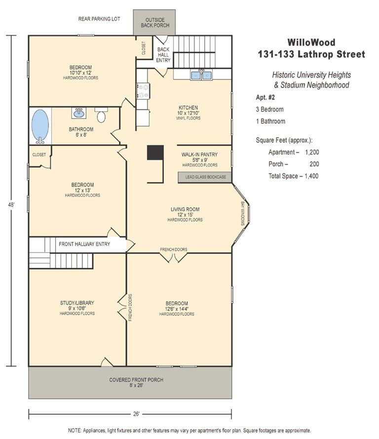 3 Bedrooms 1 Bathroom Apartment for rent at 133 Lathrop St in Madison, WI