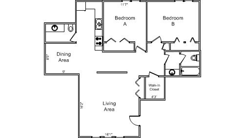 2 Bedrooms 1 Bathroom Apartment for rent at Isle Of View Apartments in Madison, WI