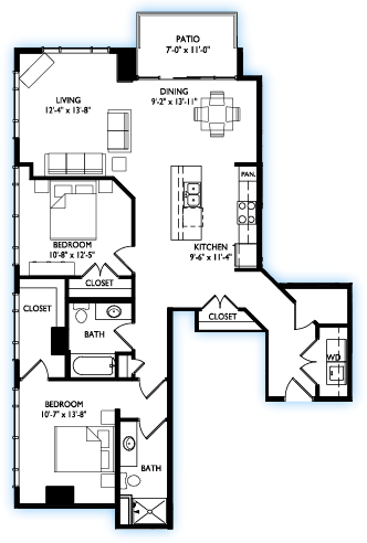 2 Bedrooms 2 Bathrooms Apartment for rent at Venture in Madison, WI