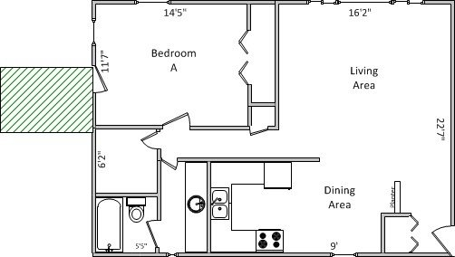 1 Bedroom 1 Bathroom Apartment for rent at Isle Of View Apartments in Madison, WI