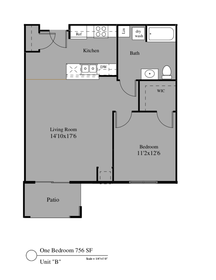 1 Bedroom 1 Bathroom Apartment for rent at 4305-4325 North Towne Ct in Windsor, WI