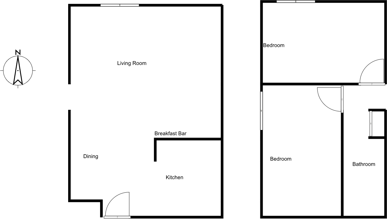 2 Bedrooms 1 Bathroom Apartment for rent at North Park Apartments in Madison, WI