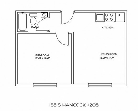 1 Bedroom 1 Bathroom Apartment for rent at 135 S Hancock St in Madison, WI