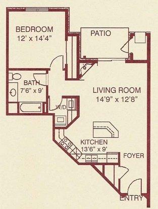 1 Bedroom 1 Bathroom Apartment for rent at Regency Place Senior Housing in Sun Prairie, WI