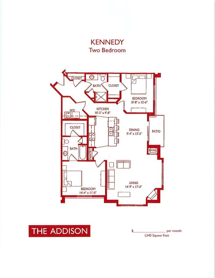 2 Bedrooms 2 Bathrooms Apartment for rent at The Addison in Fitchburg, WI