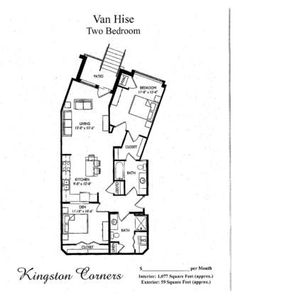 2 Bedrooms 1 Bathroom Apartment for rent at Kingston Corners in Madison, WI