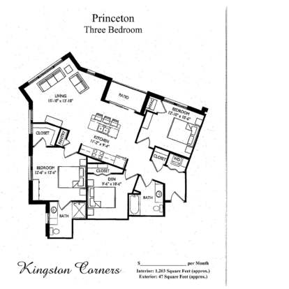 3 Bedrooms 2 Bathrooms Apartment for rent at Kingston Corners in Madison, WI
