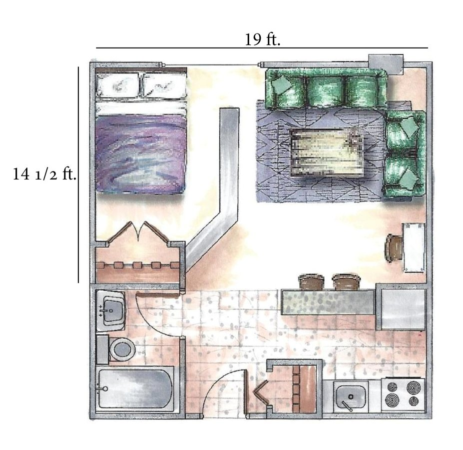 Studio 1 Bathroom Apartment for rent at Inez Apartments in Madison, WI