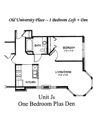 1 Bedroom 1 Bathroom Apartment for rent at Old University Place in Madison, WI